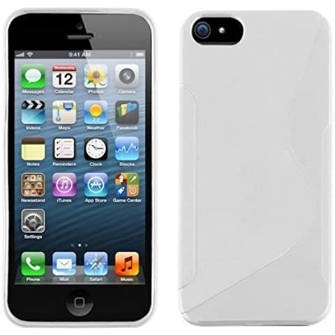 ZAFOORAH®–S-line Design Custodia in TPU per iPhone 55G 16GB, 32GB, 64GB, Protezione per Schermo, colore: bianco