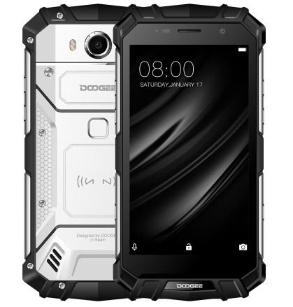 DOOGEE S60 lite - 5,2 pollici FHD impermeabile/antiurto 4G Smartphone, batteria 5580mAh Carica veloce (supporto wireless supportato), 1,5 GHz Octa Core 4 GB + 32 GB -Argento