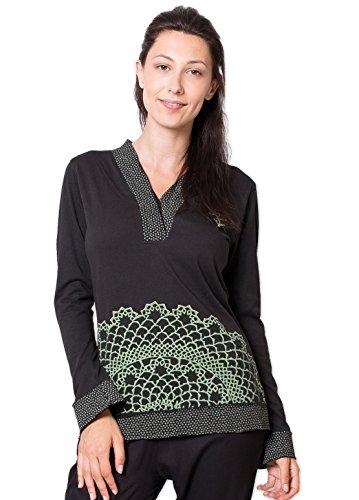 Coton Du Monde - Top CAMROSE Noir Multicolore