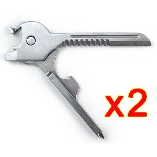 Wildlead New 6 in 1 Utili-Key mini multi Werkzeug Schlüsselring-Taschen-Edelstahl-Messer-faltender Messer Swiss Tech Einfach