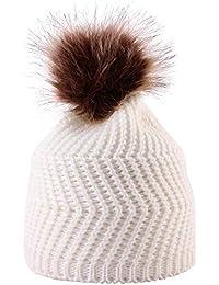 DEELIN Moda Bebé Tejer Mantener Sombreros De Sombrero Caliente con Bufanda  Y Sombreros De Punto Lindo 0fd8cfa3827