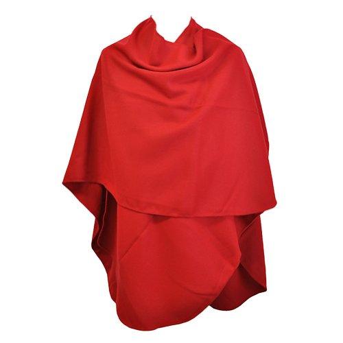 TOUTACOO, Großer Damen-Poncho - Hergestellt in Frankreich 05-Rot