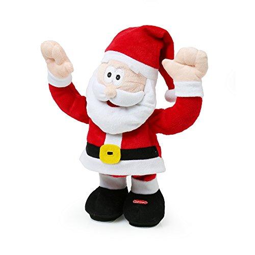 Christmasshop pupazzo di babbo natale che canta e balla (taglia unica) (rosso)