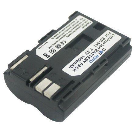Dot.Foto Batterie de qualité pour Canon BP-508, BP-511, BP-511A, BP-512, BP-514 - 7,4v / 1600mAh - Entièrement 100% compatibles - garantie de 2 ans [Pour la compatibilité voir la description]