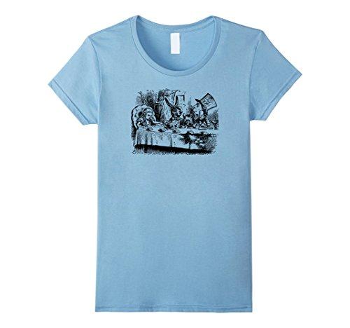 Big Texas Alice in Wonderland Mad Hatter's Tea Party T-Shirt Damen, Größe S (Frauen Mad Hatter)