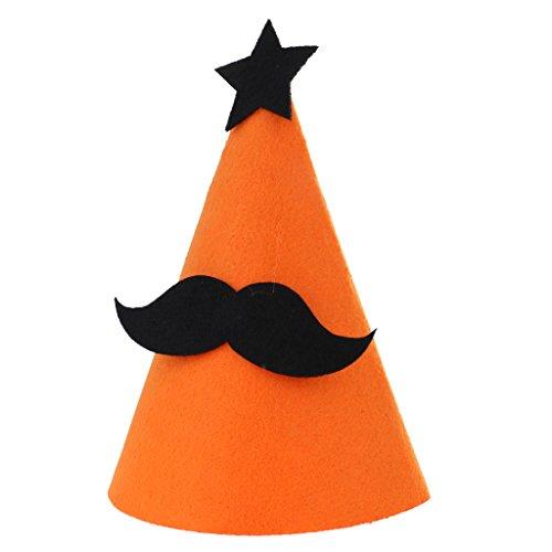 Gazechimp Halloween Party Partyhütchen aus Filz - (Schnurrbart Kegel Hüte)