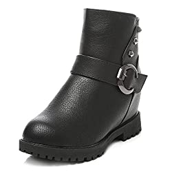 TEN Black Synthetic Leather Boots
