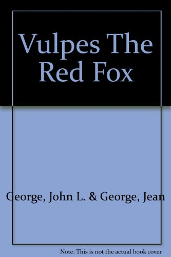 Vulpes The Red Fox Pdf Online