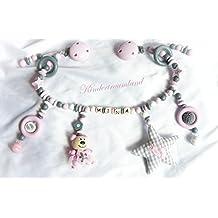 Kinderwagenkette mit Namen - Mädchen - Geschenk zur Taufe, Geburt