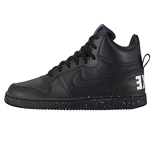 Nike Herren Court Borough Mid Se Fitnessschuhe, Mehrfarbig Black/White Purple 001, 43 EU