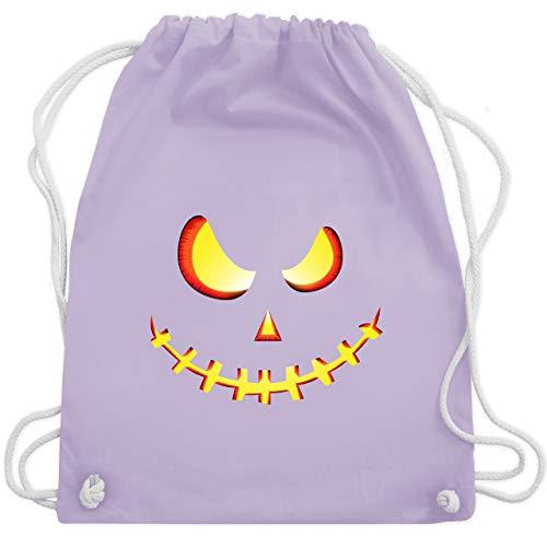 Halloween - Gruseliges Kürbis-Gesicht - Unisize - Pastell Lila - WM110 - Turnbeutel & Gym Bag (Gesichter Halloween-kürbisse Schaurige Für)