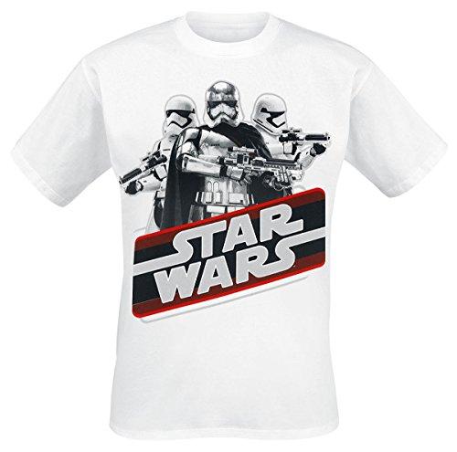 Star Wars Episode 7 - The Force Awakens - Retro Phasma T-Shirt weiß Weiß