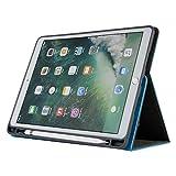 iPad Pro 12.9 Hülle 2018,Miya Lederetui Hülle Slim Smartshell Cover Case Stoßfeste Schutzhülle Tasche Tablet Smart Ständer Intelligente Hülle Deckel mit Kartenfach für iPad Pro 12.9 Zoll(Hellblau)
