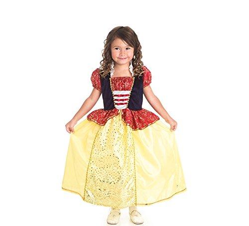 nig Abenteuer traditionellen Snow White Mädchen Prinzessin Kostüm-Klein (1-3Jahre) ()