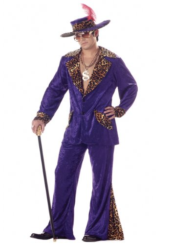 Pimp 70er Jahre Kostüm - Purple Pimp Fancy dress costume Medium