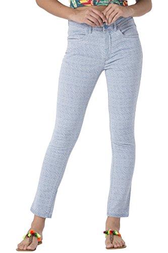 Chumbak Curvy Owl Ankle Length Light Blue Jeans- S