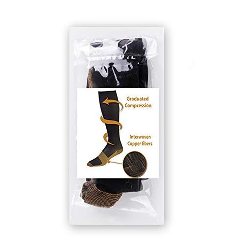 01a96da666a Copper Compression Socks (1 pair) For Women and Men Anti-fatigue Athletic  Fit