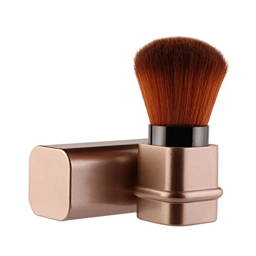 Rowentauk einziehbarer weicher Puderpinsel, Make-up-Pinsel für Rouge, Mini-Pinsel für Foundation...