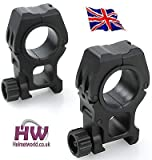 AIRSOFT-Wii-Mten-High-Scope-Ring-254-to-30mm-MOUNTS-RIFLE-20MM-RAIL-RINGS-PAIR--HELMET-WORLD