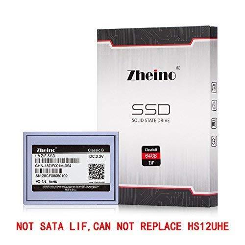 Zheino 1,8 Zoll ZIF 40pin 64GB SSD Solid State Drive