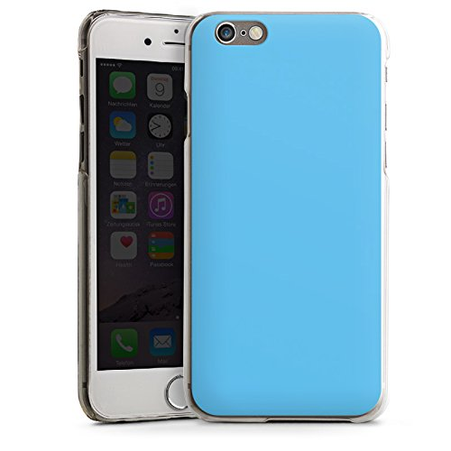 Apple iPhone 4 Housse Étui Silicone Coque Protection Bleu azur Bleu Bleu CasDur transparent