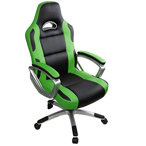 Gaming Chair,IntimaTe WM Heart High Back Office Chair Desk Chair Racing Chair Reclining Chair Computer Chair Swivel Chair PC Chair Green Black