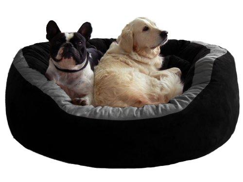 tierlando® LA4-05 LANA Hundesofa Hundebett VELOURS MEGA DICK gepolstert Gr. L 100cm CREME - 6