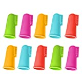 10 stücke Weicher Silikon Pet Finger Zahnbürste Zahn Saubere Pinsel mit...