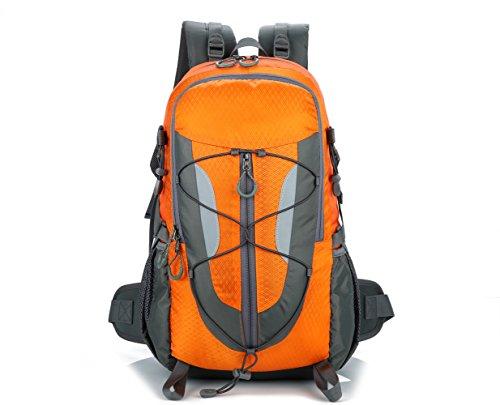 Lily's locker - zaino da trekking 30 l con scomparto per laptop per donna e uomo borse da campeggio viaggio alpinismo bicicletta e altre attività (orange)