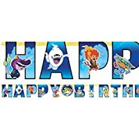 • Throw a Yo-Kai Watch birthday party • Letter banner decoration • Measures 3.2m x 25cm • With interchangeable age stickers