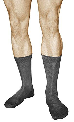 vitsocks 3 Paar Herren Business Socken, Premium Qualität, MERCERISIERTE BAUMWOLLE, Classic, 42-43, grau