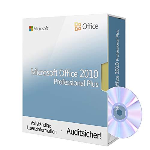 Microsoft® Office 2010 Professional Plus inkl. Tralion-DVD, inkl. Lizenzdokumente, Audit-Sicher