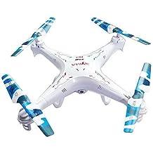 Syma Versión Syma X5C-1 2.4G 6 Eje GYRO Cámara de alta definición Cuadricóptero RC RTF Helicóptero de Radiocontrol con 2.0MP Cámara+Mini Kitty Batería Extra+4 en 1 cargador + 4 Camuflaje Hojas X5C-1 +