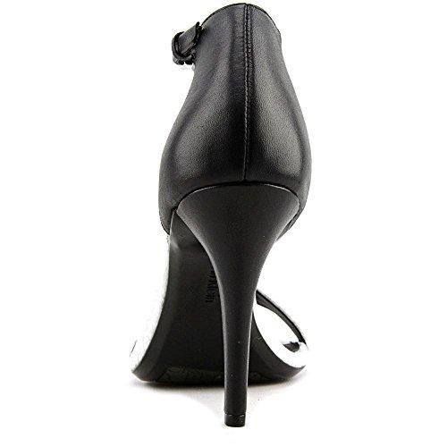 Calvin Klein Nasi Leder Sandale Silver/Black