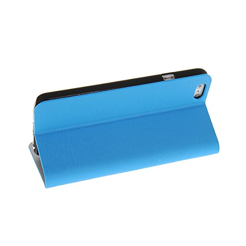 MOONCASE Coque en Cuir Portefeuille Housse de Protection Étui à rabat Case pour Apple iPhone 6 (4.7 inch) Brun Azur