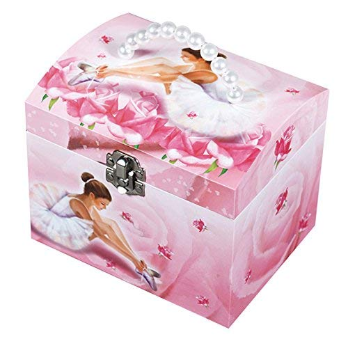 Trousselier Vanity à Musique Ballerine - Rose - Figurine Ballerine (Box Music Rose)