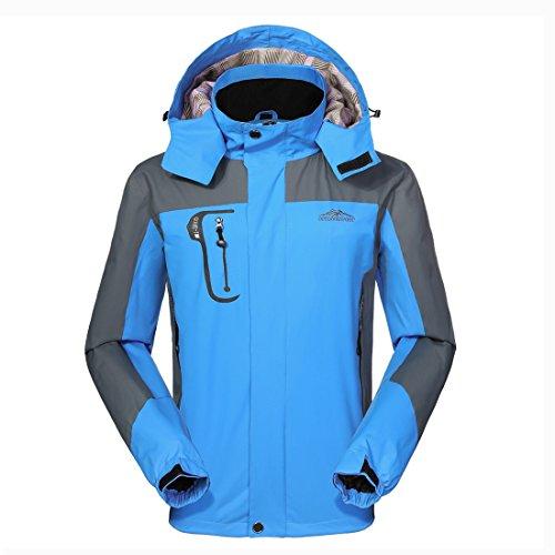 Wasserdichte Regenjacke Herren Softshell Sport Outdoorjacke - GIVBRO Funktions Atmungsaktive Hooded Camping Hiking Jacke 2018 Neues Design (Jacke Nike Tex Gore)