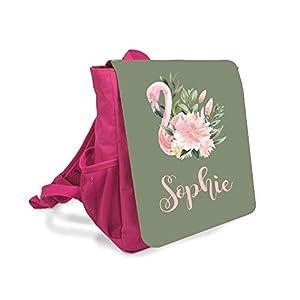 Kinderrucksack Flamingo mit Namen für 1-5 Jährige