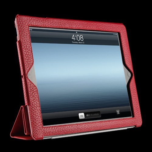 Sena Cases Leatherskin Smartcover für Apple iPad 3 rot