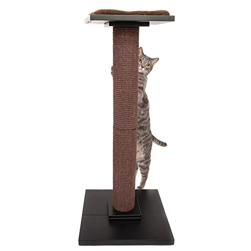 Ultimate Cat Scratch Posts | Tallest Cat Scratching Post Cat Tree for Full Stretch | Ideal Cat Scratcher Cat Tower WITH Soft Cosy Cat Bed Perch | Elegant Cat Furniture to Impress You and Your Cat