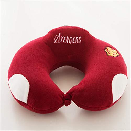 BBQBQ Kissen Office u-Shaped Pillow car Airplane travel Pillow Siesta Neck Pillow Iron Man 30 * 30cm
