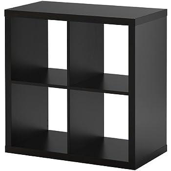 Ikea kallax scaffale marrone nero 77x77 cm for Scaffale scala ikea