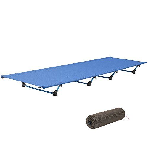 Feldbett, Terra Hiker Ultraleichtes Campingbett, Zusammengefaltet 50 cm x 14 cm, Aufgefaltet 60 cm x 200 cm x 13 cm, Aluminium Zelt Bett