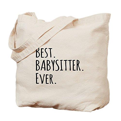 CafePress Best Babysitter Ever Tragetasche, Canvas, Khaki, M