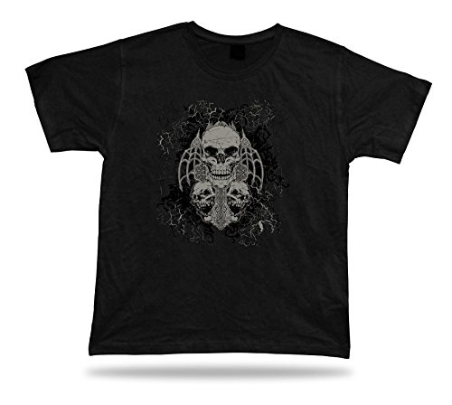 Tshirt Tee Shirt Idea regalo di compleanno fede Skull morte Gothic Creepy (Fede Regalo)