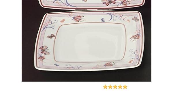 Square Weiss 6 Suppenteller Teller tief 21cm für 6 Personen Neu Eckig Porzellan