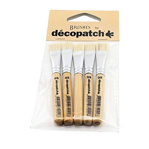 Décopatch PACKPC05O Pinsel Seide (7 x 14 cm, speziel für unebene Untergründe) 5er Pack