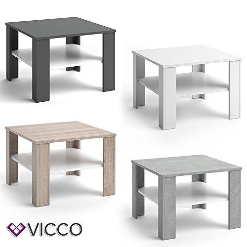 vicco couchtisch homer 60x60 wohnzimmer sofatisch