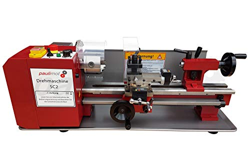 PAULIMOT Drehmaschine SIEG SC2 mit 230 Volt Motor 500 Watt 80 mm Futter 400 mm Spitzenweite