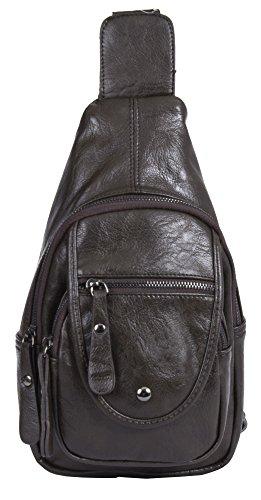 Big Handbag Shop, Borsa a zainetto donna Backpack Style 1 -Coffee